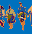 bulgarian dance vector image