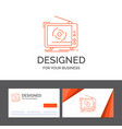 business logo template for tv ad advertising vector image