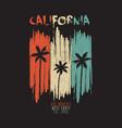 california vintage print vector image vector image