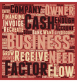 Cash Flow The Life Blood Of Every Business text vector image vector image