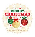 christmas emblem design element vector image