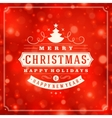 Christmas retro typography and light background vector image vector image