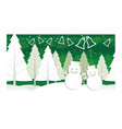 christmas with winter forest vector image vector image
