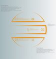 Circle infographic template horizontaly divided to vector image vector image