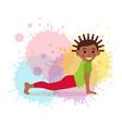 cute cartoon gymnastics for children and healthy vector image vector image