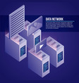data network related vector image vector image