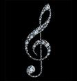 diamond treble clef vector image vector image