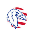 eagle head with us symbols round icon vector image