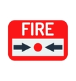 Fire button icon vector image vector image