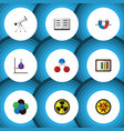 flat icon knowledge set of lecture irradiation vector image vector image
