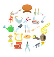foreman icons set cartoon style vector image vector image