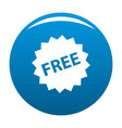 free sign icon blue vector image