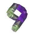 Geometric crystal digit 9 vector image vector image
