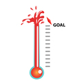 goal thermometer vector image