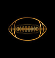 gold colored american football icon vector image vector image