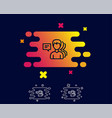 group of men line icon teamwork sign vector image