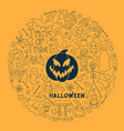 halloween design big set of design vector image vector image