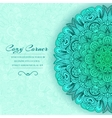 Hand drawn abstract background ornament concept Ve vector image vector image