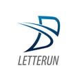 Initial letter b line logo concept design symbol