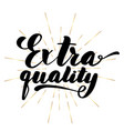 lettering inscription extra quality vector image