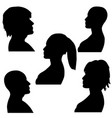 Man and woman faces silhouette black and white