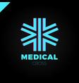 medic cross icon pharmacy logo template corporate vector image vector image