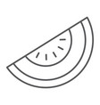 melon thin line icon fruit and vitamin diet sign vector image vector image