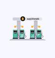 modern flat design gas filling station vector image