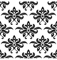 Modern foliate black and white arabesque pattern vector image vector image