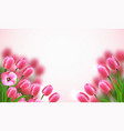 mothers day flowers composition vector image vector image