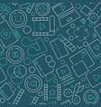 movie pattern editing film production cinema vector image