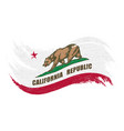 national flag of california designed using brush vector image