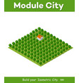 natural landscape isometric vector image vector image