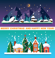 New Year and Christmas landscapes vector image vector image