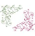 ornamental twigs vector image vector image