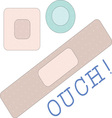 ouch bandages vector image