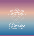 paradice tropic casino label emblem or vector image