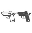 pistol line and glyph icon gun vector image vector image