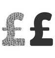 pound sterling collage of binary digits vector image vector image