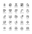 project management line icons set 15 vector image vector image