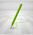 realistic wooden pencil on a white background vector image vector image