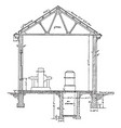 resident sub station plan section a typical vector image vector image