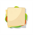sandwich isolated on white background vector image