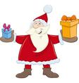 santa claus with gifts cartoon vector image vector image
