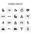 set of 20 editable healthy icons includes symbols vector image