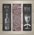 Set of art wine banners and labels design vector image