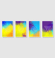 set of colorful abstract background modern style vector image