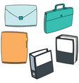 set of folder vector image