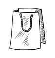 sketch paper shopping bag vector image vector image