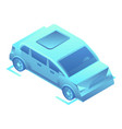 smart car on parking icon isometric style vector image